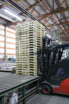 Pallets on Forklift